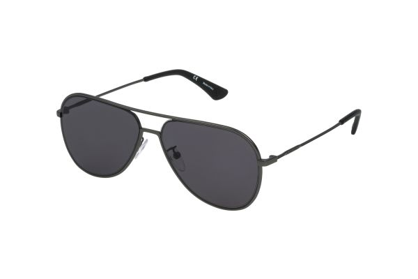 Police Highway Two 1 SPL359 08H5 Sonnenbrille in canna di fucile opaco - megabrille