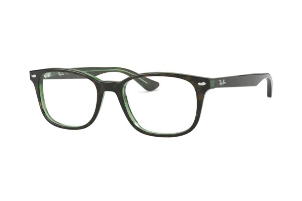 b450e9b56f01d9 Ray-Ban RX5375 2383 Brille in top havana on green transparent - megabrille