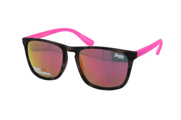 Superdry SDS Shockwave 172 Sonnenbrille in havanna/neon pink - megabrille