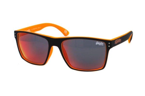 Superdry SDS Kobe 127 Sonnenbrille in schwarz/neon orange - megabrille