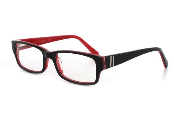 Megabrille Modell A196 A Brille in schwarz/rot - megabrille