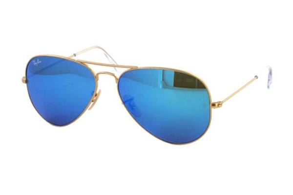 Ray-Ban Aviator Large Metal RB 3025 112/17 Sonnenbrille in gold/blau - megabrille