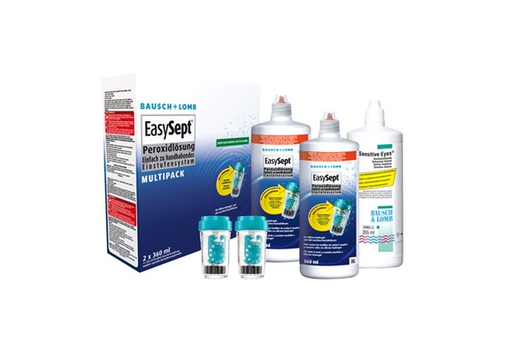 Bausch & Lomb Pflegemittel EasySept Multipack + Sensitive Eyes | 2x 360ml + 1x 355ml - megabrille