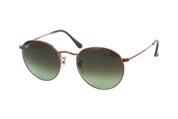 Ray-Ban Round Metal RB 3447 9002A6 Sonnenbrille in shiny medium bronze - megabrille