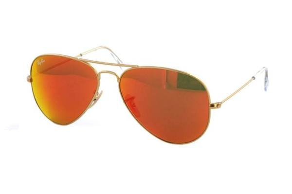 Ray-Ban Aviator Large Metal RB 3025 112/69 Sonnenbrille in gold/rot - megabrille