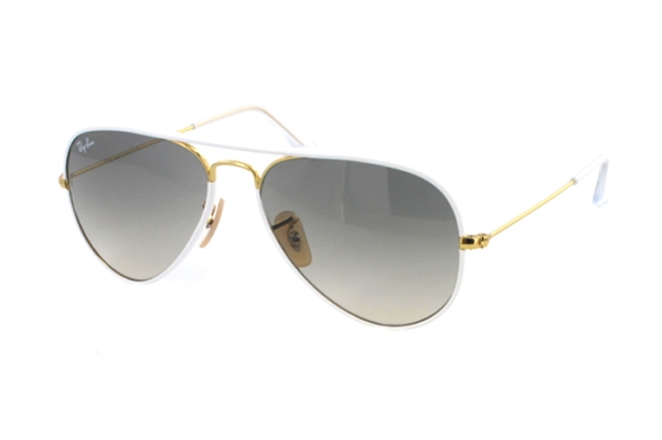 Ray-Ban Aviator Full Color RB 3025JM 146/32 Sonnenbrille in shiny gold - megabrille