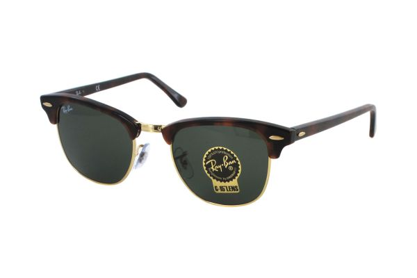 Ray-Ban Clubmaster RB 3016 W0366 Sonnenbrille in mock tortoise/arista - megabrille
