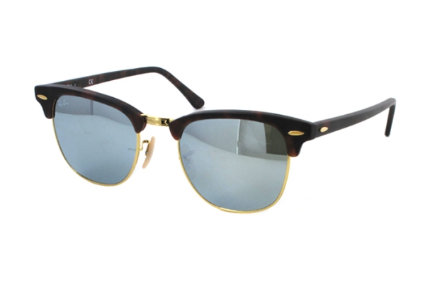 Ray-Ban Clubmaster RB 3016 1145/30 Sonnenbrille in sand havana/gold - megabrille
