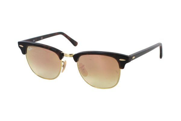90b56e8b866b Ray-Ban Clubmaster RB 3016 990 70 Sonnenbrille in shiny red havana -