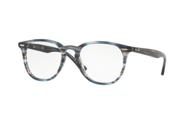 Ray-Ban RX7159 5750 Brille in blue grey stripped - megabrille
