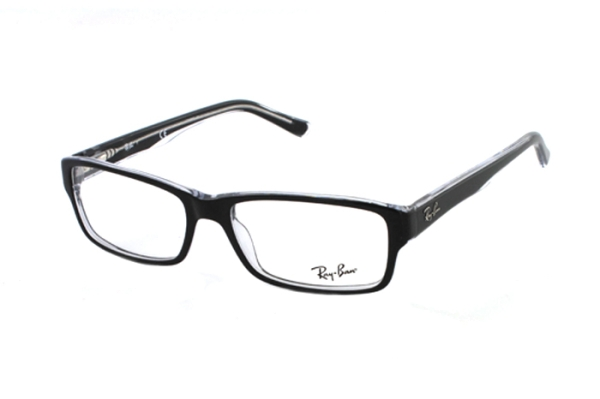 Ray-Ban RX5169 2034 Brille in schwarz/transparent - megabrille