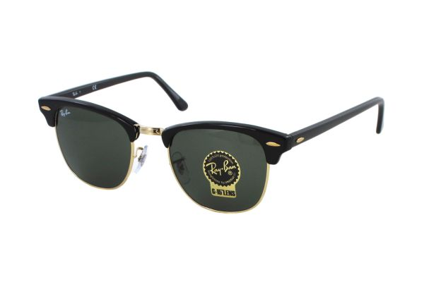 Ray-Ban Clubmaster RB 3016 W0365 Sonnenbrille in ebony/arista - megabrille