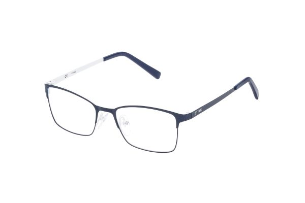 Sting Junior VSJ401 8D1M Kinderbrille in blu scuro opaco+bianco - megabrille