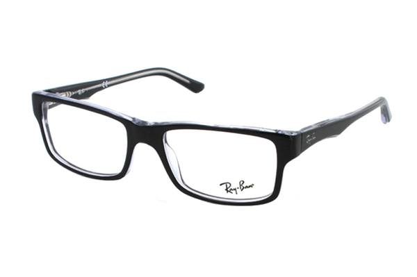 Ray-Ban RX 5245 2034 Brille in schwarz/transparent - megabrille