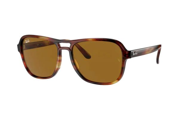 Ray-Ban State Side RB 4356 954/33 Sonnenbrille in striped havana - megabrille