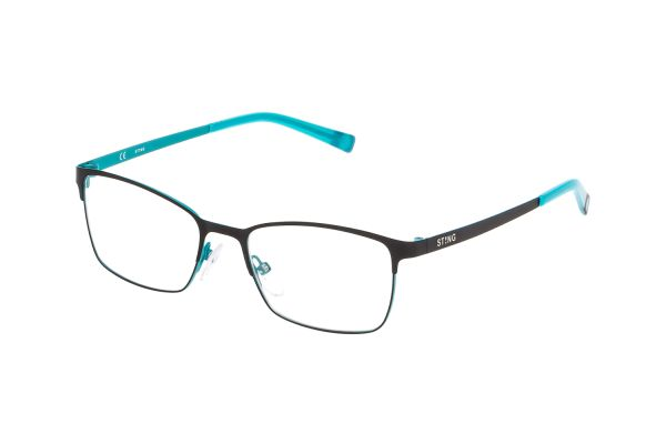 Sting Junior VSJ401 0Q46 Kinderbrille in nero semiopaco c/parti color - megabrille