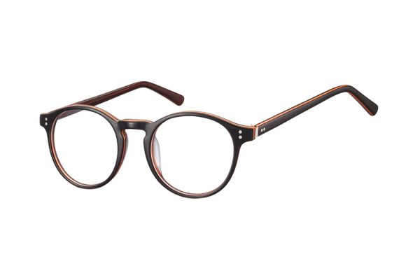 Megabrille Modell AM74D Brille in braun/orange - megabrille