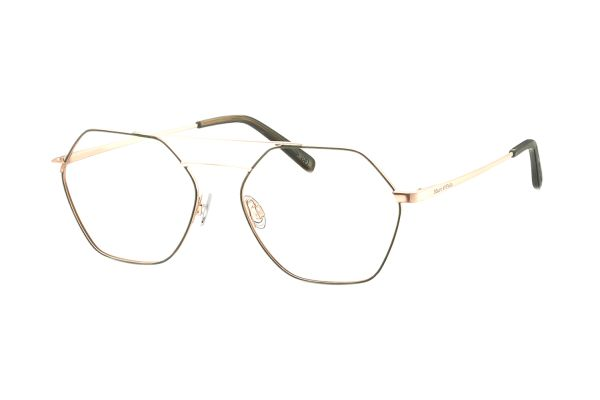 Marc O'Polo 502137 24 Brille in roségold semi matt / khaki - megabrille