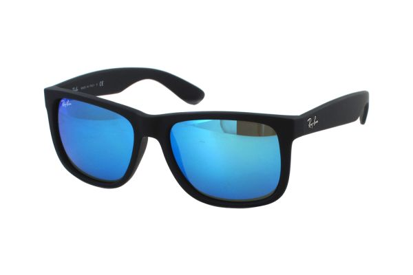 Ray-Ban Justin RB 4165 622/55 Sonnenbrille in black rubber - megabrille