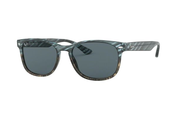 Ray-Ban RB 2184 1252R5 Sonnenbrille in blu gradient grey stripped - megabrille