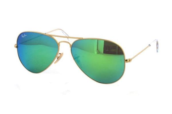 Ray-Ban Aviator Large Metal RB 3025 112/19 Sonnenbrille in gold/grün - megabrille