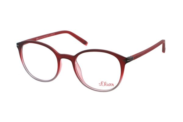 s.Oliver Casual 93571 380 Brille in bordeaux/grau matt - megabrille