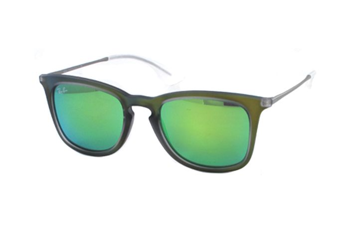 Ray-Ban RB 4221 6169/3R Sonnenbrille in shot reen rubber 50/19 XG7x8