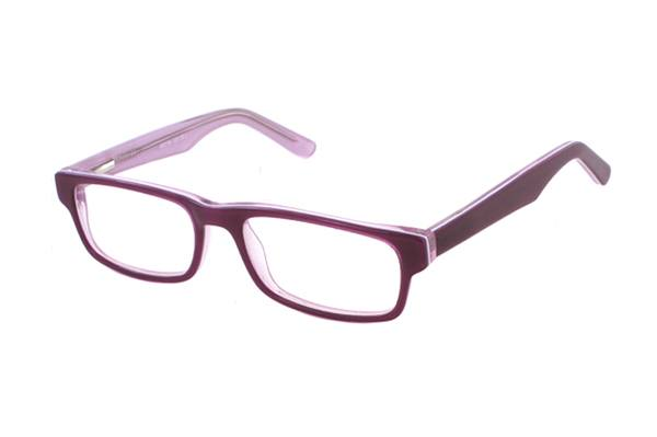 Megabrille Modell AM95 Brille in lila/transparent - megabrille