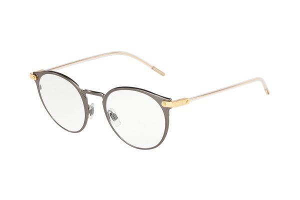 Dolce & Gabbana DG1318 1332 Brille in brushed dark gunmetal - megabrille